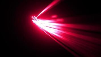 Fundo abstrato de raios de luz 3d brilhante de alta tecnologia