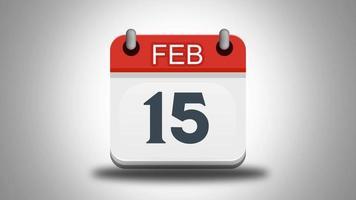 calendário rasgado mês a mês durante todo o ano video