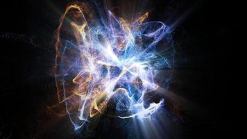 les particules se heurtent et brillent