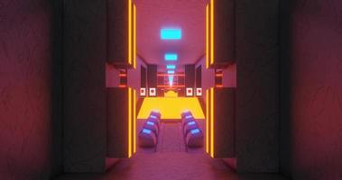 animazione in loop continuo del corridoio luminoso.