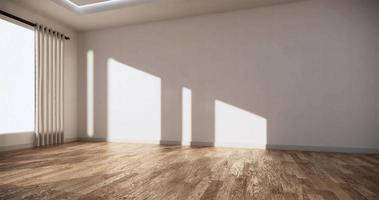 A Wide Empty Room with Wooden Floor and White Wall video