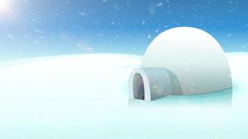 desenho animado do fundo do pólo norte com estrela guia