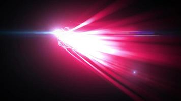 astratto incandescente 3d colpi di luce sfondo fx