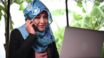 Arabic Woman getting Good News on the Phone
