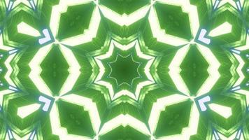 Boucle vj étoile néon vert rendu 3D