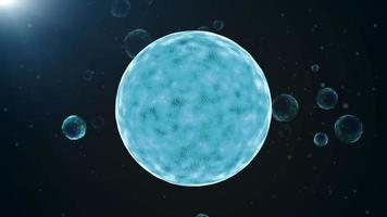 fondo astratto del cerchio delle particelle incandescenti blu scuro
