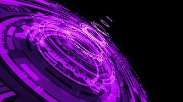abstrato roxo violeta ciência tecnologia hud fundo em loop video