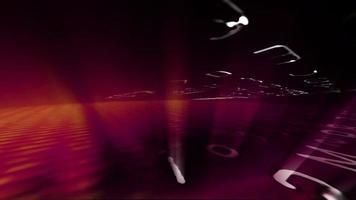 futuristiche griglie di dati con effetti di luce video