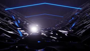 3D-Rendering-Nachtgeländefahrt-VJ-Schleife video