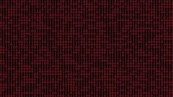 Red binary code digital background