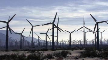 A Wind Farm Under A Cloudy Sky video