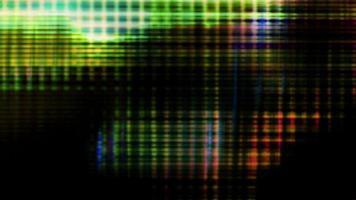 os pixels da tela flutuam com a cor e o movimento do vídeo