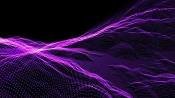 montes de partículas de luz ondulam e fluem video