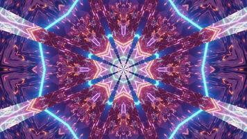 túnel de perspectiva animada psicodélica