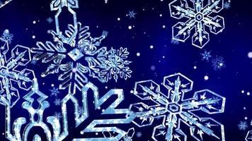 Schneeflocken fallen in den blauen Hintergrund