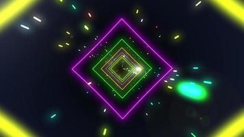 vlucht door een sci-fi tunnellus