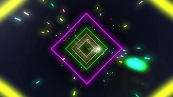voo através de um loop de túnel sci-fi video