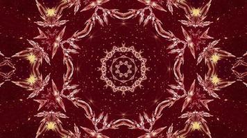3D renderização em vermelho crescente do caleidoscópio estrela vj loop video