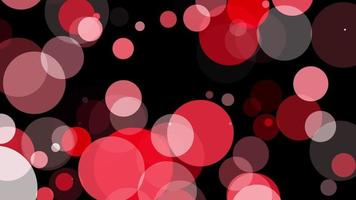 círculos vermelhos movendo-se em fundo preto
