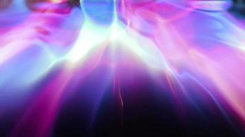 um arco-íris de luz líquida