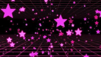 estrelas roxas em fundo preto