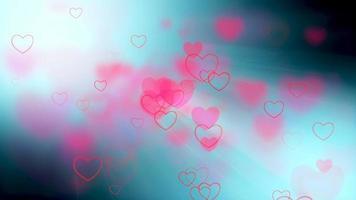 fundo rosa de corações voadores