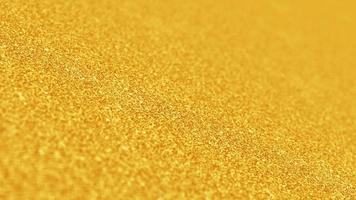 dourado cintilado looping abstrato movimento glitter texturizado fundo video