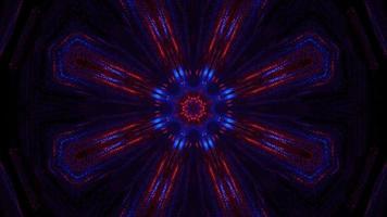 dimensione della luce al neon colorata stella infuocata