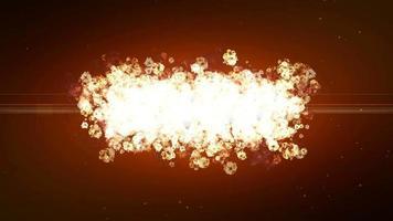 explosão e expansão de partículas de poeira
