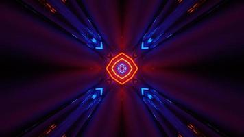 loop visual vj para concerto de néon futurista