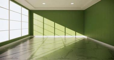 Empty Room with An Interior Green Wall Background video