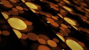 bokeh dourado 3d mosaico grade animação de fundo