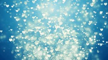 fundo azul de corações voadores