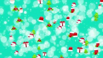 Christmas Icons Background video