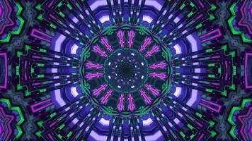Renderização 3D com estrelas roxas verdes em movimento vj loop