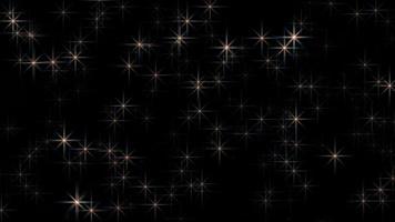 étoiles scintillantes sur fond noir