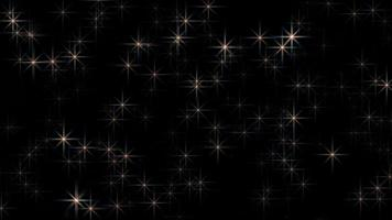 Sparkling Stars On A Black Background video