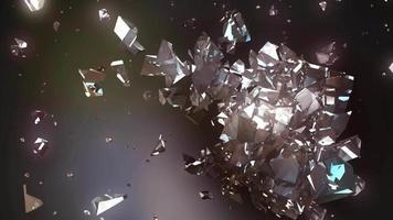 fond abstrait cube cassé