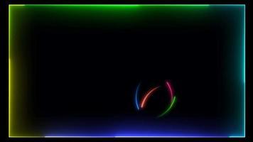 arco-íris colorido néon brilhante video