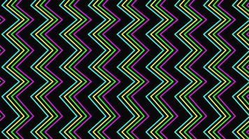 retro zigzag video