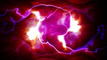 loop de onda elétrica de plasma futurista rosa roxo azul