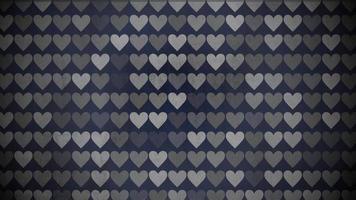 patrón de corazones blanco y negro
