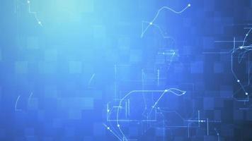fondo de bucle de innovación de ciberespacio de red eléctrica digital azul