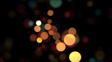 Multicolored 3D Bokeh Light Looping Background