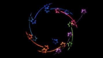 étoiles magiques roulant au centre video