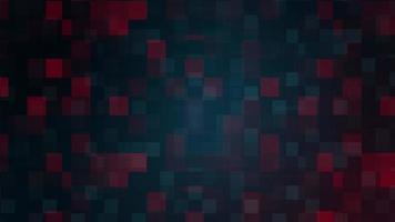 quadrados geométricos vermelhos azuis mosaico tecnologia loop movimento video
