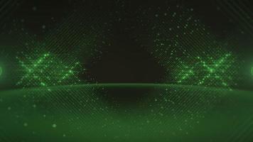 grüne abstrakte Linien und Punkte