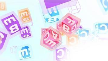 Abstract Alphabet Blocks Background