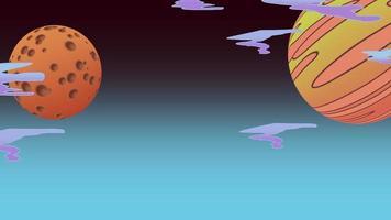 planetas no espaço video