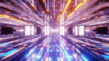 rettangolare elegante percorso luminoso 4k uhd 3d rendering vj loop